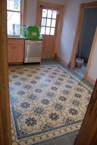 Original mission tile home for Cement tiles for kitchen