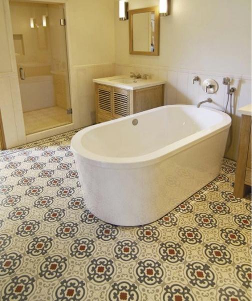 Concrete Bathroom Floor: Cement Tiles Bathrooms